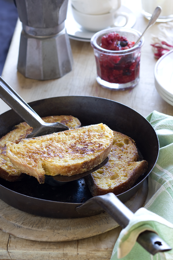 Post image for French Toast With Smashed Berries Recipe