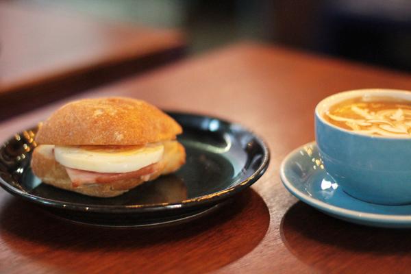 blue bird breakfast panini