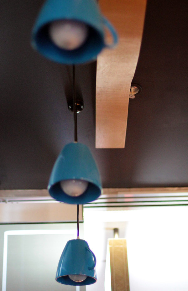 blue bird coffee cup lamps