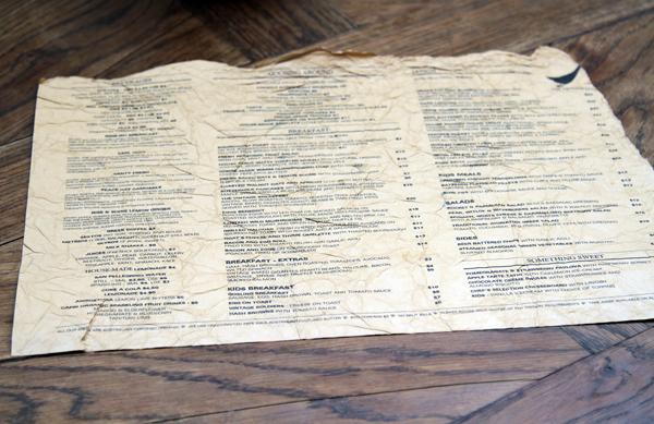 vintage goose menu