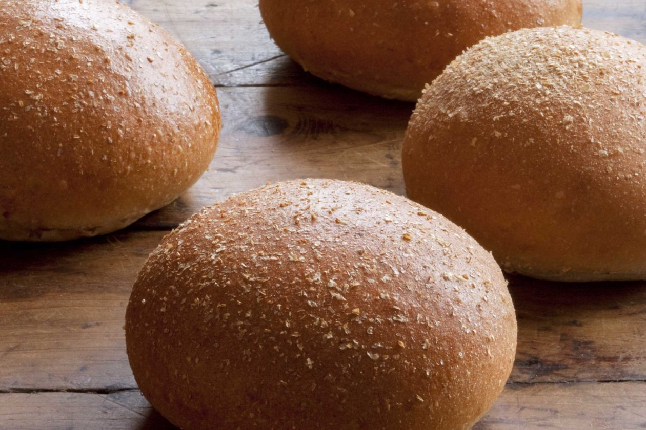 Whole Wheat Bun | Vegan Burger Bun by Brasserie Bread