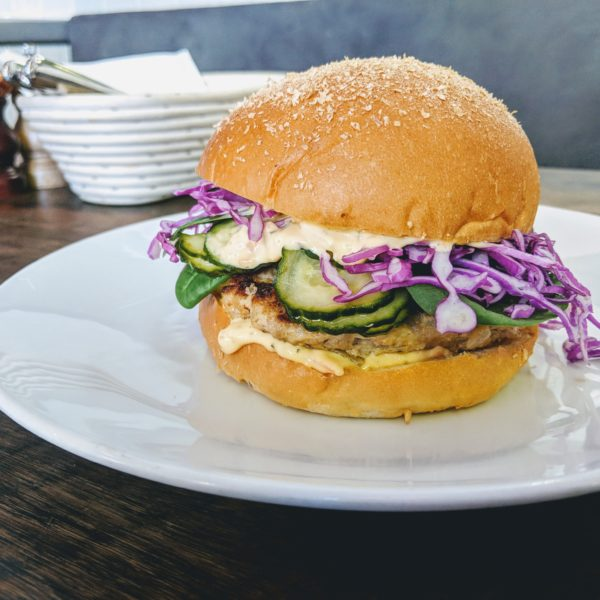 Post image for Brasserie Bread, Café at the Bakery – Danish Style Pork Burger on Wholemeal Bun