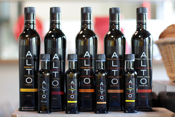 ALTO olive oils available for purchase at the Brasserie Bread cafe